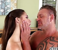 Tied stepdaughter Joseline Kelly gets used