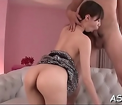 Anal toying with unfathomable doggy style