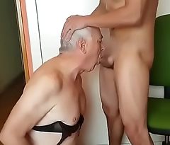 Grandpa sucking young men