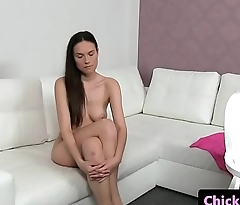 Female casting agent licks her clients pussy