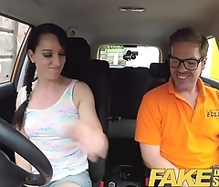 Fake Driving School Cheating learners tight pussy filled with cum