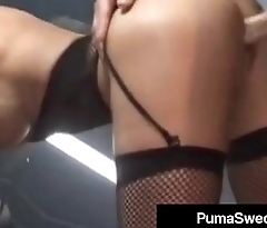 Busty Blonde Amazon Puma Swede Bangs A Hard Long Cock!