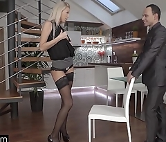 Glamkore - Sexy Euro Babe Karol Lilien Striptease for her lover