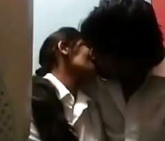 Kissing romantic teen in browsing