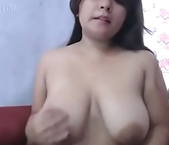 Big Tits Mexican girl Moaning sucks her tits and rubs them