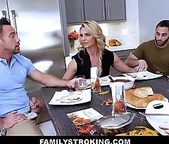 MILF Stepmom Threesome With Father And Son