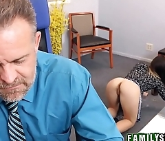 Step Daughter Bambi Brooks Fucks Dad At His Work