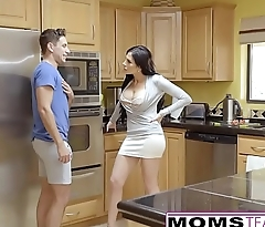 MomsTeachSex - First Time Threesome Is With Step Mom!