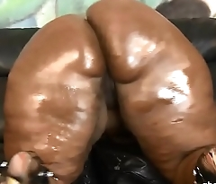 BBW Ms Marshae puke fucked &amp_ gets pounded hard by white guy