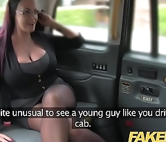 Fake Taxi Secretary looking lady with huge tits and wet pussy