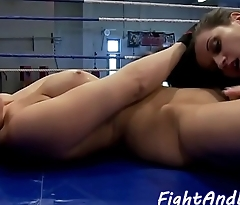 Wrestling babe dildoes lesbians tight pussy