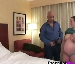 Naughty pregnant woman gets pussy banged-big-2