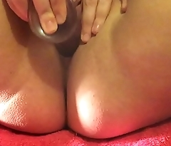 young bbw creams girl cum all over dildo