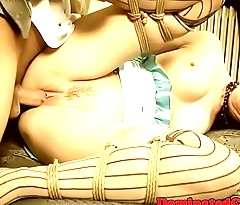 Sub babes tied up and dominated over