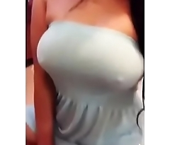 Woman with big breasts gets her nipple very rich 1