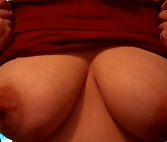 Babe shows perfect tits amateur and natural