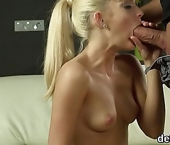 Innocent cutie stretches juicy vagina and loses virginity