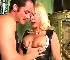 Amazing milf with big tits sucked and slammed!