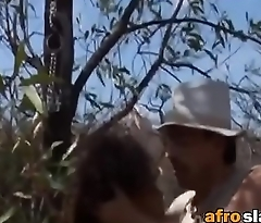 African babe gets her rough rock off outdoorsfick-vol1-1-edit-ass-1