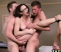 Professor double fucked in her pussy and anal