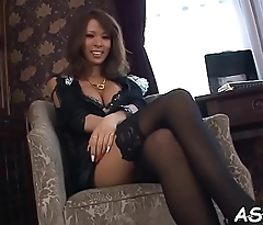 Bewitching japanese 3some sex