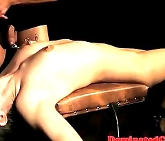 Assfucked sub tormented before tasting cum