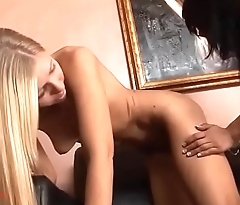 GirlsFuckToys.com Asian and blond fuck each other with dildos till they cum hard
