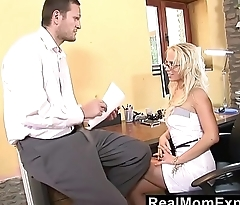 RealMomExposed - Milf neglects her job but certainly not the boss'_s cock