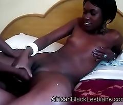 Beautiful African honey gets her sweet black pussy tonguedy-bathroom-3