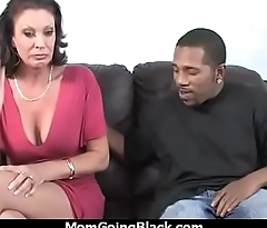 Sexy mom gets a creamy facial after getting pounded by a black dude 28