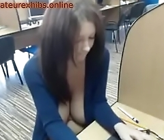 Flashing in library webcam big boobs exhibitionist 3-amateurexhibs.online
