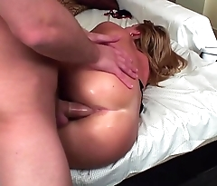 Hot blonde girl got nailed at her got apartments