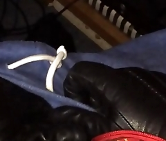 Serial Killer Strokes His Huge Cock With Leather Gloves (POV)