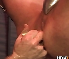 Hunks ass double fisted