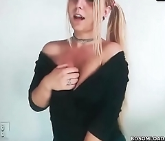 BLONDE WITH BUTT TEASING- Find her at- BOSOMLOAD.COM