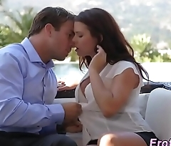 Busty babe gets creampied