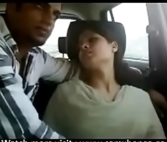 Indian couple gets naughty in car